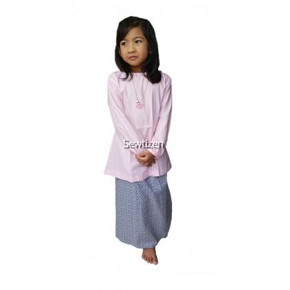 Baju Kebaya Peplum Saloma (Pink)