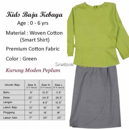 Baju Kebaya Peplum Saloma (Apple Green)