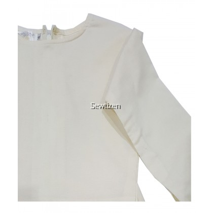 Baju Kebaya Peplum Saloma (Warna Cream)