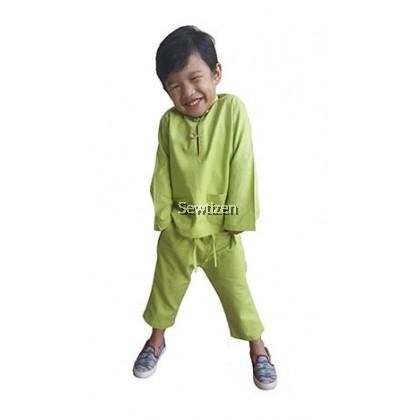 Baju Melayu Baba (Apple Green)