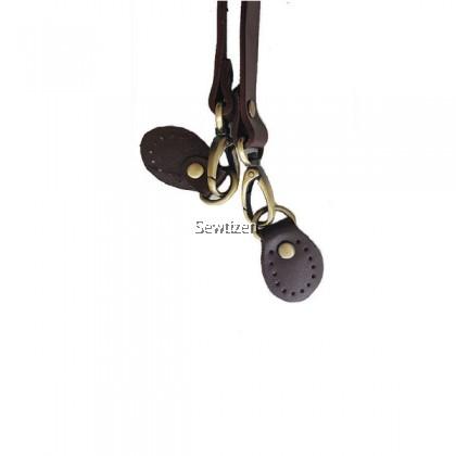 Genuine Leather Single Shoulder Bag Handle (Dark brown color)