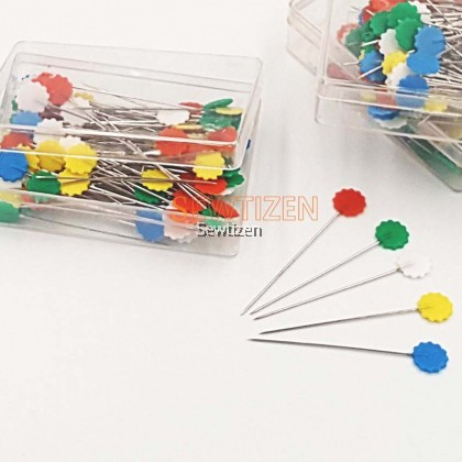 100 unit Flower Head Pin / Patchwork Pin