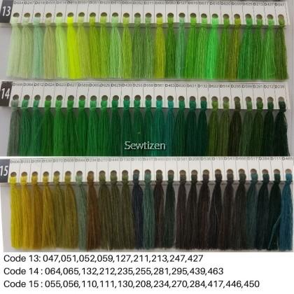 250 meter Dolphin Thread/Benang Dolphin Warna Set A & B - Benang Jahitan Pakaian