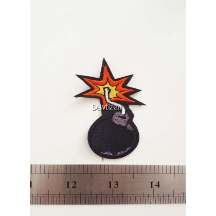 Bomb Embroidery Sew On Patch